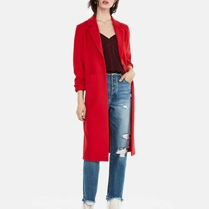 NEW EXPRESS RED DOUBLE WEAVE COAT HEAVY W/ POCKETS